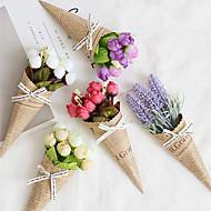 abordables -Fleurs artificielles 1 Une succursale Classique Moderne contemporain Européen Roses Lavande Fleurs éternelles Fleur de Table