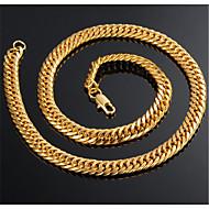 זול -בגדי ריקוד גברים קלאסי שרשרת פלדת טיטניום אופנתי מגניב זהב 50 cm שרשראות תכשיטים 1pc עבור מתנה יומי