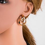 Χαμηλού Κόστους -Γυναικεία Ασημί Χρυσό Μαύρο Γεωμετρική Κρεμαστά Σκουλαρίκια Σκουλαρίκια Ευρωπαϊκό Κοσμήματα Χρυσό / Μαύρο / Ασημί Για Καθημερινά 1 Pair