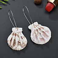 저렴한 -여성용 드랍 귀걸이 쉘 귀걸이 자연적 열대의 보석류 실버 제품 결혼식 파티 일상 거리 작동 1 쌍