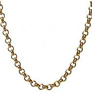 Χαμηλού Κόστους -Ανδρικά Κλασσικό Κρεμαστό Ανοξείδωτο Ατσάλι Χαρά Μοντέρνα Απίθανο Χρυσό Ασημί 55 cm Κολιέ Κοσμήματα 1pc Για Καθημερινά Δρόμος