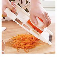 halpa -5 in 1 monitoiminen ruostumattomasta teräksestä valmistettu vihannesten viipale, joka leikkaa mandoliinia kasvisleikkurilla, säädettävä porkkana raastin sipuli