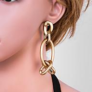 Χαμηλού Κόστους -Γυναικεία Χρυσό Γεωμετρική Κρεμαστά Σκουλαρίκια Σκουλαρίκια Ευρωπαϊκό Κοσμήματα Χρυσό Για Καθημερινά 1 Pair