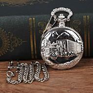billige -Herre Lommeure Quartz Sølv Afslappet Ur Stor urskive Analog Afslappet Mode - Sølv