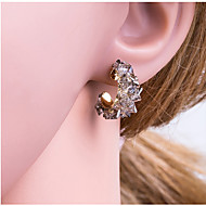 Χαμηλού Κόστους -Γυναικεία Πολύχρωμο Γεωμετρική Κουμπωτά Σκουλαρίκια Σκουλαρίκια Κορεάτικα Κοσμήματα Λευκό / Γκρίζο Για Καθημερινά 1 Pair