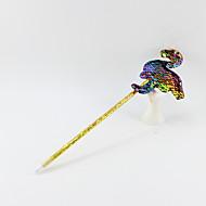 billiga -plast / dubbelsidiga paljetter flamingoblack penna bly bollpunkt hantverk gåvor för barn lärande kontorsmaterial