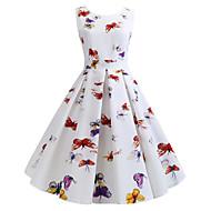 رخيصةأون -فستان نسائي A line متموج أساسي بوهو طباعة طول الركبة ألوان متناوبة