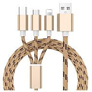 Micro USB Câble 1.3m (4.3Ft) Tout-en-un / Tressé Nylon Adaptateur de câble USB Pour Samsung / Huawei / Xiaomi