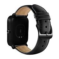 billige -Klokkerem til Huami Amazfit Bip Younth Watch Xiaomi Sportsrem Ekte lær Håndleddsrem