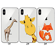 tanie -Kılıf Na Jabłko iPhone XR / iPhone XS Max Wzór Osłona tylna Zwierzę / Kreskówki Miękka TPU na iPhone XS / iPhone XR / iPhone XS Max