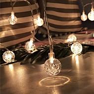 رخيصةأون -1.5M أضواء سلسلة 10 المصابيح أبيض دافئ ديكور بطاريات آ بالطاقة 1SET