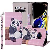 preiswerte -Hülle Für Samsung Galaxy Note 9 Geldbeutel / Kreditkartenfächer / mit Halterung Ganzkörper-Gehäuse Panda Hart PU-Leder für Note 9