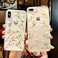 Etui Til Apple iPhone XS Max / iPhone 6 Transparent / Mønster Bagcover Transparent / Blomst Blødt TPU for iPhone XS / iPhone XR / iPhone XS Max