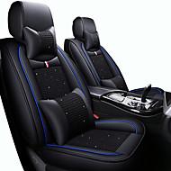abordables -Cojines para asiento de coche Cojines de asiento Negro / Rojo / Negro / Blanco / Negro / Azul Cuero de PU / Cuero sintético Negocios / Común Para Universal Todos los Años Cinco asientos