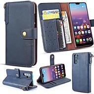 케이스 제품 Huawei P20 Pro / 화웨이 P30 라이트 지갑 / 카드 홀더 / 스탠드 전체 바디 케이스 솔리드 하드 진짜 가죽 용 Huawei P20 / Huawei P20 Pro / Huawei P20 lite
