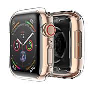 étui en silicone pour bracelet de montre apple 4, cadre transparent ultra-mince souple, 40 mm, 40 mm