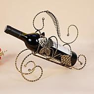 Χαμηλού Κόστους -1pc Επεξεργασμένο Σίδερο Σχάρες Κρασιών Σχάρες Κρασιών Κλασσικό Κρασί Αξεσουάρ για Barware