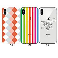 tanie -etui na jabłko iphone xr / iphone xs max wzór tylna okładka geometryczny wzór miękki tpu dla iphone 6 6 plus 6s 6s plus 7 8 7 plus 8 plus x xs