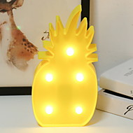 cheap -1pc LED Night Light Warm White AA Batteries Powered Creative <5 V