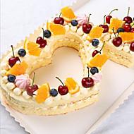 billige -3pcs Plast Valentinsdag Kake Cake Moulds Bakeware verktøy