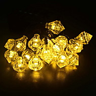 billige -6,8m Lysslynger 30 LED Varm hvit Solar / Dekorativ Soldrevet 1set