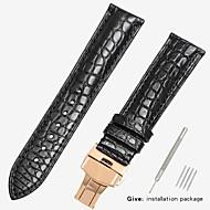 זול -עור אמיתי / קרוקודיל צפו בנד רצועה ל שחור / חום 18cm / 7 אינצ'ים / 19cm / 7.48 אינצ'ים 1.2cm / 0.47 אינצ'ים / 1.4cm / 0.55 אינצ'ים / 1.6cm / 0.6 אינצ'ים