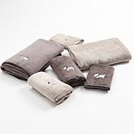 billige -Overlegen kvalitet Badehåndkle Sett, Mote Polyester / Bomull Stue / Soverom / Baderom 3 pcs