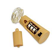 billige -2m Lysslynger 20 LED SMD 0603 Varm hvit / Hvit / Blå Vanntett / Dekorativ / Bryllup Batterier drevet 1pc