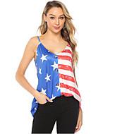 abordables -Tee-shirt Femme, Géométrique Bleu US6