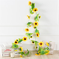 cheap -Artificial Flowers 1 Branch Classic Wall-Mounted Suspended Modern Contemporary Pastoral Style Sunflowers Wall Flower