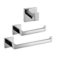 お買い得  -浴室用品セット 新デザイン / 創造的 コンテンポラリー / 近代の メタル 3本 - 浴室 壁式