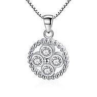 hesapli -Kadın's Kübik Zirconia Uçlu Kolyeler Romantik Krom Gümüş 45 cm Kolyeler Mücevher 1pc Uyumluluk Hediye Günlük