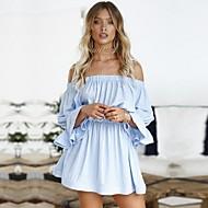 رخيصةأون -فستان نسائي A line قصير جداً دون الكتف