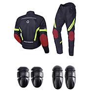 halpa -SRATE Moottoripyöräilyvaatteet Takki Housut Set varten Men's Polyesteria Syksy / Kesä Lämmitin / Paras laatu