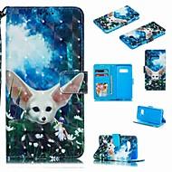 זול -מגן עבור Samsung Galaxy S9 Plus / S8 Plus ארנק / מחזיק כרטיסים / עמיד בזעזועים כיסוי מלא חיה / אנימציה קשיח עור PU ל S9 / S9 Plus / S8 Plus