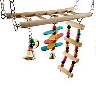 abordables -Pájaro Perchas y Escaleras Madera / Metal Amigable con las Mascotas / Juguete del foco / Juguetes de felpa y tela 25 cm