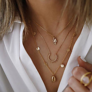 cheap -Women's Necklace Layered Necklace Chrome Gold 50 cm Necklace Jewelry 1pc For Daily School Street Holiday Festival