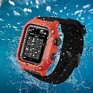 baratos -caso com banda para maçã relógio série 2 / apple relógio série 3 / maçã relógio série 4 plástico / silicone compatibilidade maçã