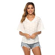 billige -T-skjorte Dame - Ensfarget Gatemote / Elegant Hvit US10 / UK14 / EU42