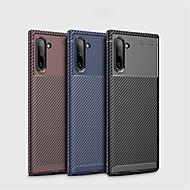 povoljno -Θήκη Za Samsung Galaxy Samsung Note 10 / Galaxy Note 10 Plus Otporno na trešnju / Ultra tanko Stražnja maska Jednobojni Carbon Fiber