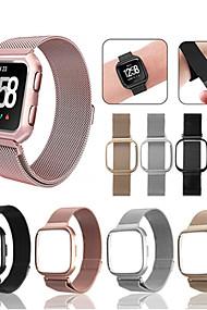 tanie -Watch Band na Fitbit Versa Fitbit Pasek sportowy / Metalowa bransoletka Stal nierdzewna Opaska na nadgarstek