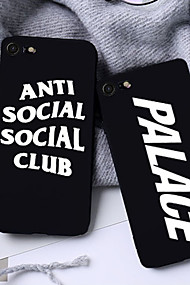 cheap -Case For Apple iPhone XS / iPhone XR Pattern Back Cover Word / Phrase Soft TPU for iPhone XS / iPhone XR / iPhone XS Max