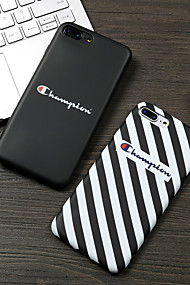 cheap -Case For Apple iPhone XR XS XS Max Pattern Back Cover Lines / Waves / Word / Phrase Soft TPU for iPhone X 8 8 Plus 7 7plus 6s 6s Plus SE 5 5S
