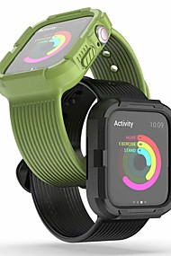 cheap -Watch Band for Apple Watch Series 4/3/2/1 Apple Classic Buckle Silicone Wrist Strap