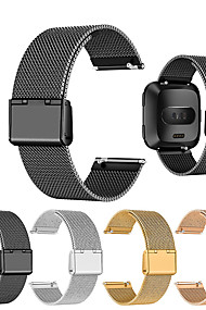 tanie -Watch Band na Fitbit Versa Fitbit Klasyczna klamra Metal / Stal nierdzewna Opaska na nadgarstek
