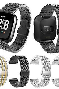 tanie -Watch Band na Fitbit Versa / Fitbit Versa Lite Huawei Pasek sportowy Metal / Stal nierdzewna Opaska na nadgarstek
