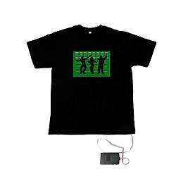 ήχου και της μουσικής ενεργοποιηθεί el χορευτής οραματιστής vu-φάσματος t-shirt (2 * AAA)