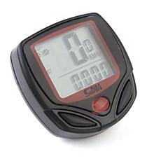 abordables Deportes y Ocio-Computador de Bicicleta LED Digital Con Velocímetro y 13 Funciones Más