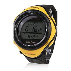 Męskie Sportowy Modny Zegarek na nadgarstek Energia słoneczna Wodoszczelny Słoneczny LED Guma Pasmo Na co dzień Nowoczesne Czarny żółty