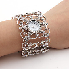 Women's Diamond Style Bracelet Wrist Watch (Silver) Cool Watches Unique Watches Fashion Watch Strap Watch